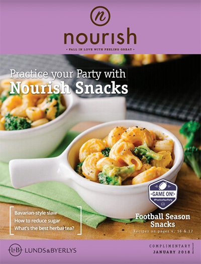 Lunds & Byerlys Nourish January 2018 cover
