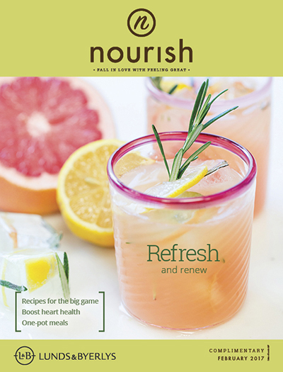 Lunds & Byerlys Nourish February 2017 cover