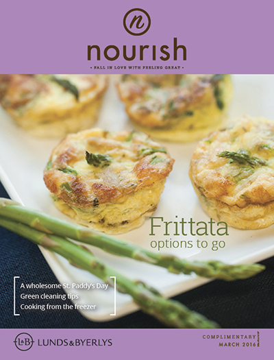 Lunds & Byerlys Nourish March 2016 cover