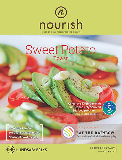 Lunds & Byerlys Nourish April 2018 cover