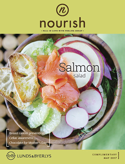 Lunds & Byerlys Nourish May 2017 cover