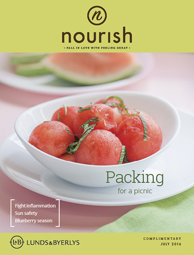 Lunds & Byerlys Nourish July 2016 cover