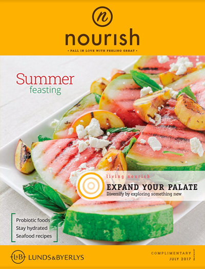Lunds & Byerlys Nourish July 2017 cover