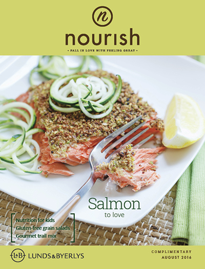 Lunds & Byerlys Nourish August 2016 cover