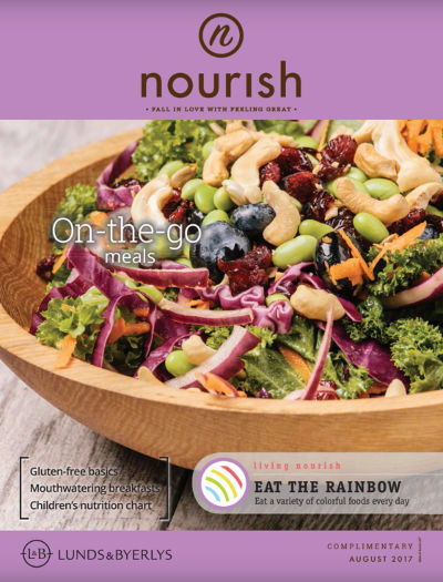 Lunds & Byerlys Nourish August 2017 cover
