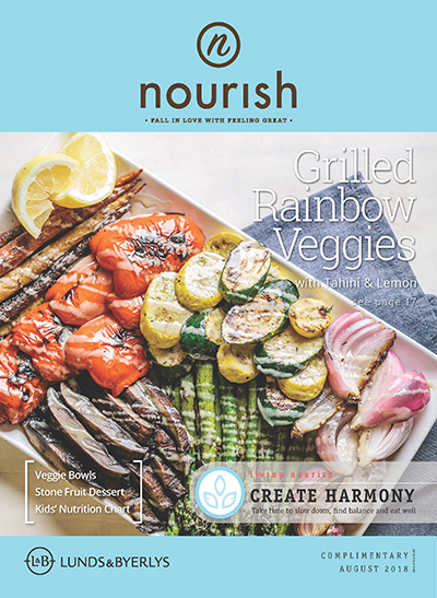 Lunds & Byerlys Nourish August 2018 cover