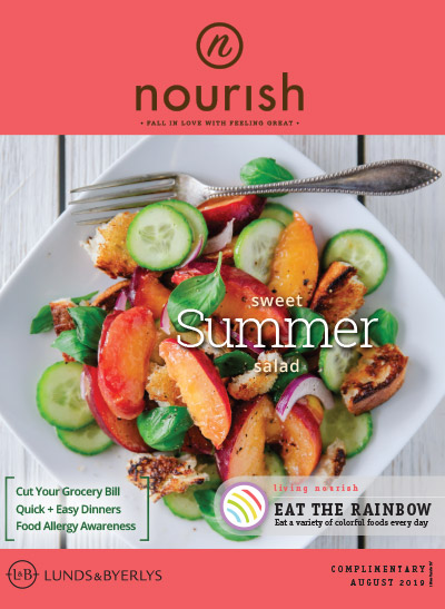 Lunds & Byerlys Nourish August 2019 cover