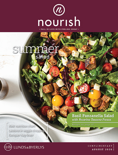 Lunds & Byerlys Nourish August 2020 cover