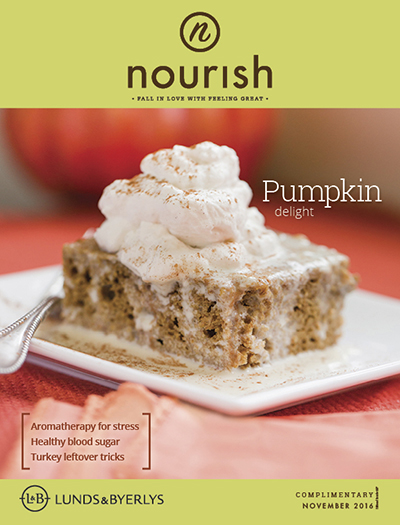 Lunds & Byerlys Nourish November 2016 cover