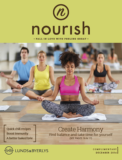 Lunds & Byerlys Nourish December 2016 cover