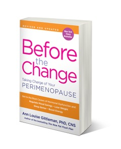 A copy of the book 'Before the Change' about perimenopause