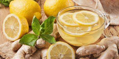 Lemon, ginger, other digestive foods