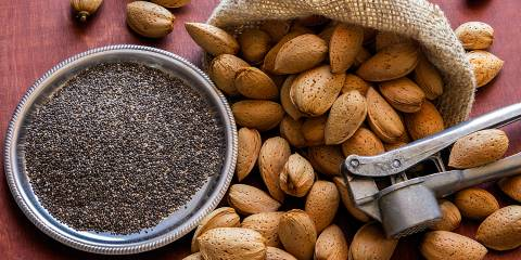 almonds and chia seed