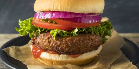 A juicy burger made without meat
