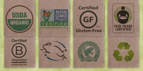 Natural products labels