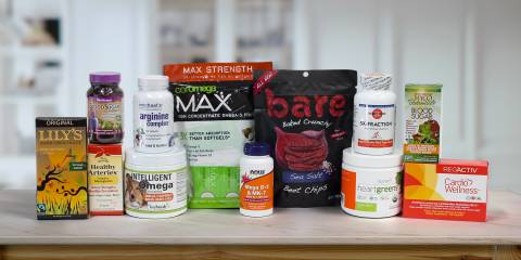 All-natural supplements and foods meant to support heart health