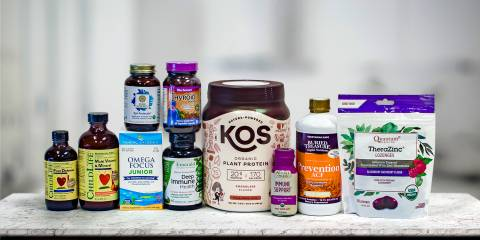 a selection of all-natural immunity supplements and a few other things