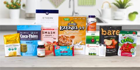 A selection of all natural foods and digestive supplements