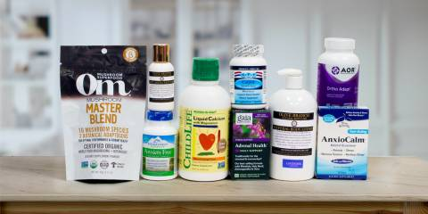 a variety of all-natural supplements