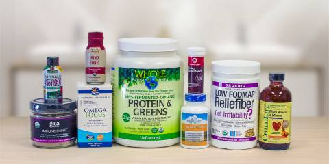 a collection. of superfoods and supplements