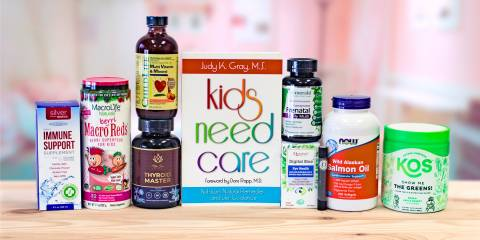 a selection of all-natural products for healthy children