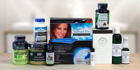 a wide variety of all-natural supplements and body care products