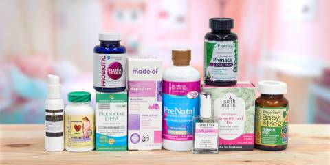 a selection of all-natural prenatal support products