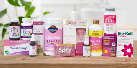 All-natural supplements and body-care products for women's health
