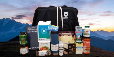 a gift pack of all-natural products for father's day
