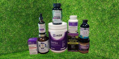 a variety of all-natural supplements and superfood