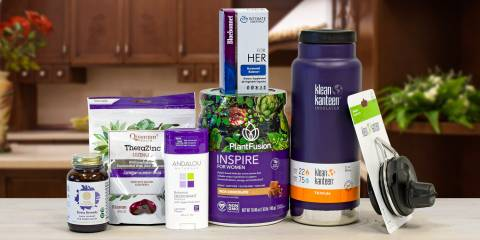 a bunch of all-natural products that happen to be purple