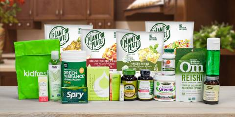 a variety of all-natural foods, supplements, and body care products