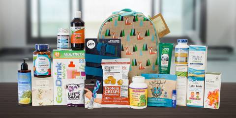 some cool gear, plus all-natural supplements, foods, and body care products