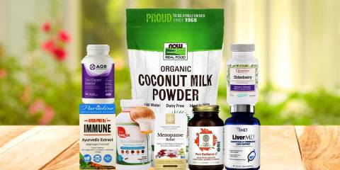 a bunch of all-natural supplements