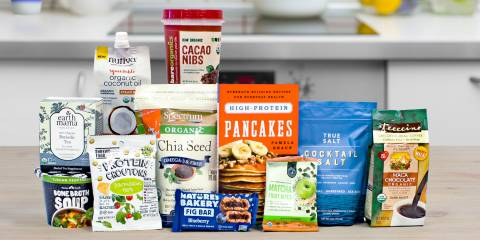 a selection of all-natural foods and kitchen supplies