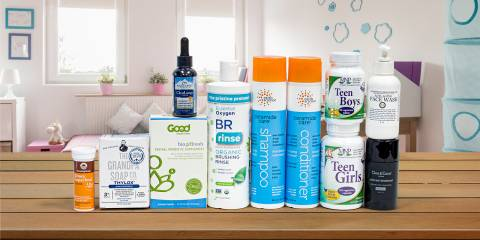 all-natural body care products and nutrition supplements for teens