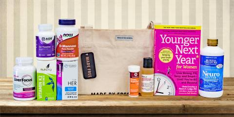 a selection of all-natural products for womens' health