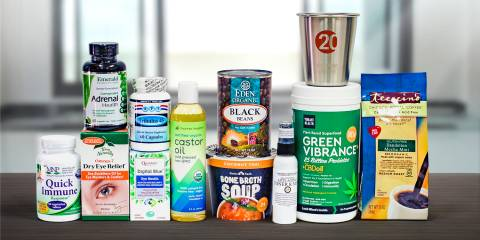 a selection of all-natural products for work life balance
