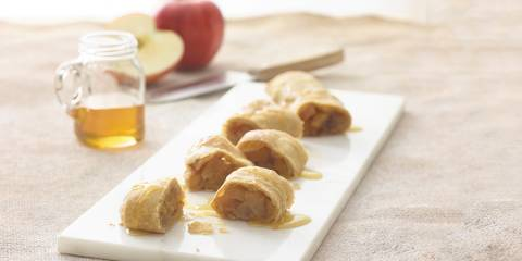Slices of caramelized apple strudel