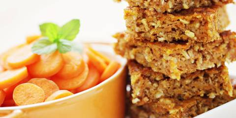 slices of spicy carrot cake