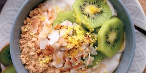 "Lemon, Kiwifruit & Coconut Cream ""Pie"""