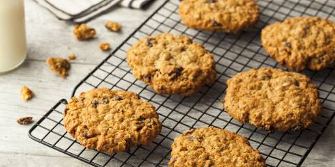 Oatmeal Sweet Potato Cookies on a cooling rack.