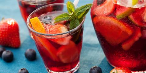 Sangria mocktail non-alcoholic
