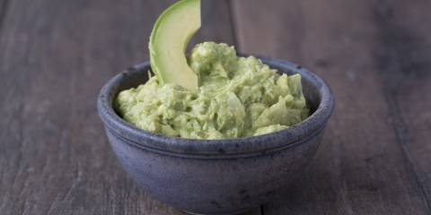 A bowl of sauerkraut guacamole