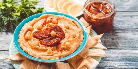 Sun-Dried Tomato-Basil Hummus