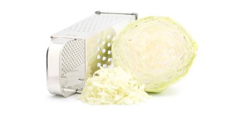 cabbage and box grater