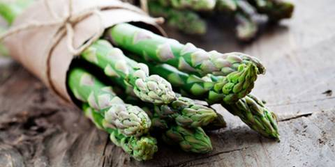 A bundle of fresh asparagus