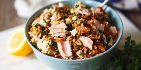 Wild Planet Tuna, Feta & Wheat Berry Salad