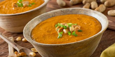 A bowl of African Peanut soup
