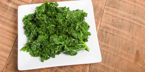 Kale greens with ginger and garlic